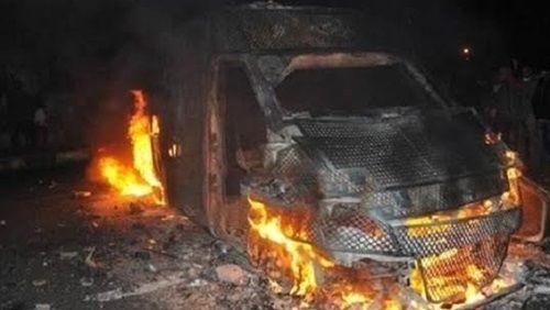 إصابة ٣ جنود في تفجير مدرعة جنوب العريش