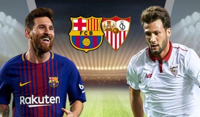 مباراة برشلونة واشبيلية بث مباشر يلا شوت يوتيوب كورة اون لاين يوتيوب الاسطورة اليوم 21-4-2018 كاس ملك اسبانيا